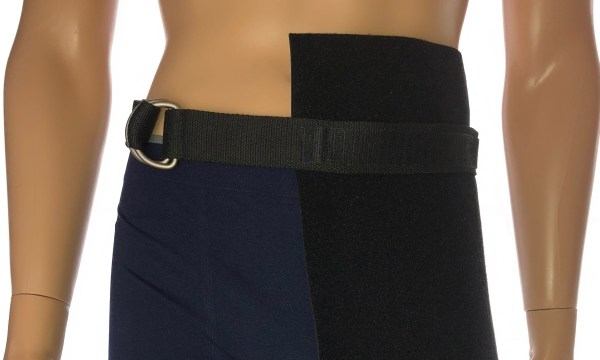 "alt="" urinary leg bag holder attached to belt"""